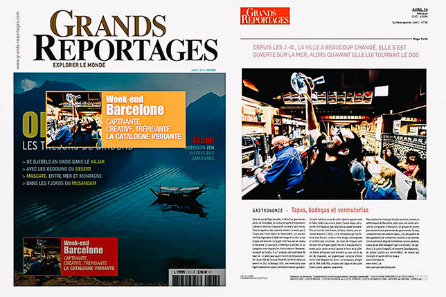 Grands Reportages magazine from France features Aborígens food tours